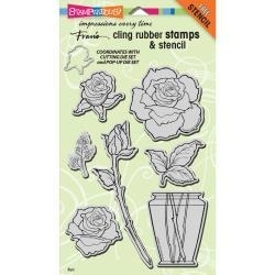 519008 Stampendous Cling Stamp Rose Bouquet