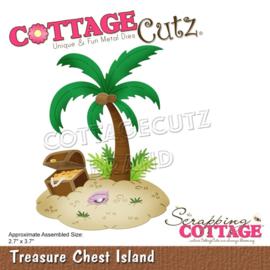 "CC768 CottageCutz Dies Treasure Chest Island 2.7""X3.7"""