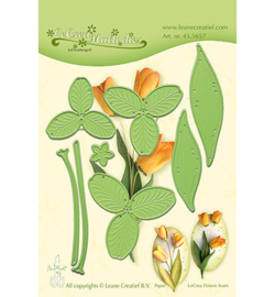 455657 LeCrea'Multi Die Cutting/Emb Flower 017 Tulip 3D