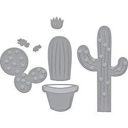 S3339 Spellbinders Indie Line Shapeabilities Dies Potted Cacti