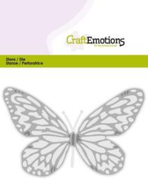 115633/0353 CraftEmotions Die vlinder groot Card 5x10cm