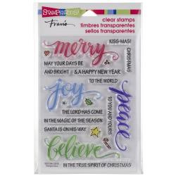 252202 Stampendous Perfectly Clear Stamps Merry Words
