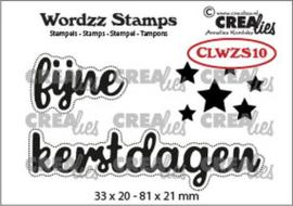 CLWZS10 Crealies Clearstamp Wordzz Fijne Kerstdagen