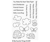 CS-309 My Favorite Things Love Bugs Clear Stamps