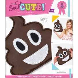 200498 Emoji Pile Of Poo Pillow Sew Cute! Felt Kit
