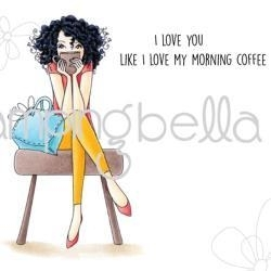 """419399 Stamping Bella Cling Stamp Don't Talk To Me Before My Coffee 6.5""""X4.5"""""""