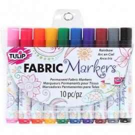 053752 Tulip Fabric Markers Rainbow