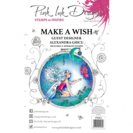 PI081 Creative Expressions Pink ink Make a wish clear stamp