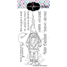 "644270 C3BB364 Colorado Craft Company Clear Stamps Slimline Gnome-Big & Bold 4""X8"""