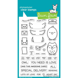 """LF2466 Lawn Fawn Clear Stamps Special Delivery 4""""X6"""""""