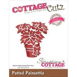 500691 CottageCutz Elites Die  Potted Poinsettia