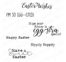 EB936 Stamping Bella Cling Stamps Easter Sentiment Set