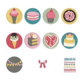 663620 Sizzix Thinlits Die Set Mini Sweet Treats by Courtney Chilson 13PK