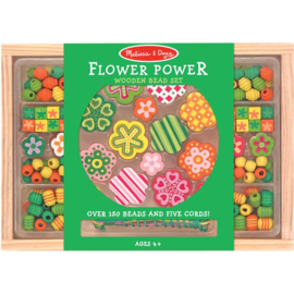 207228 Houten Kralen set Flower Power