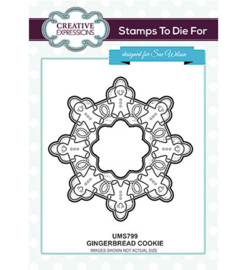 UMS799 To Die For Stamp Gingerbread Cookie