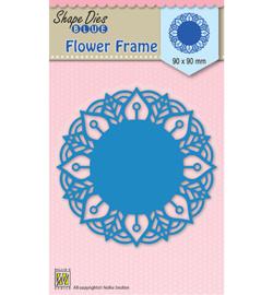 SDB025  Nellie's Choice Shape Dies Round Lace-flower frame