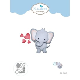 EC1663 Elizabeth Craft Metal Die Elephant