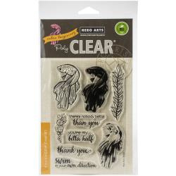 """575901 Hero Arts Clear Stamps Color Layering Betta Fish 4""""X6"""""""