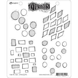 377753 Dyan Reaveley's Dylusions Cling Stamp Collections Four By Four