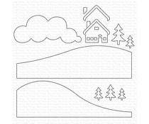 MFT-1609 My Favorite Things Snowy Scene Builder Die-namics