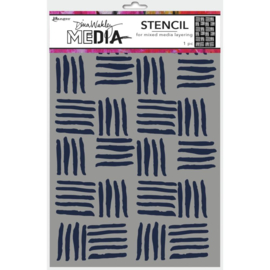"MDS 74854 Dina Wakley Media Stencils Cross Hatch 9""X6"""