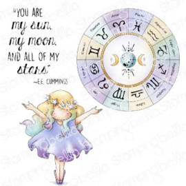 662019 Stamping Bella Cling Stamps Tiny Townie Astrology Chart