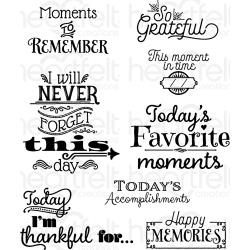 "318333 HCPC3813 Heartfelt Creations Cling Rubber Stamp Set Today's Quotes  5""X6.5"""