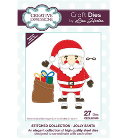 CEDLH1040 The Stitched Collection Jolly Santa