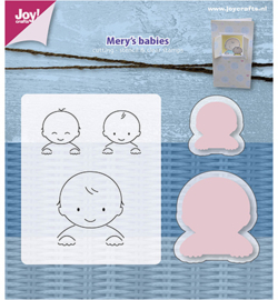 6004/0018 Stamp + Stencil Mery's Babies