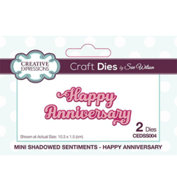 CEDSS004 Mini Shadowed Sentiments Happy Anniversary