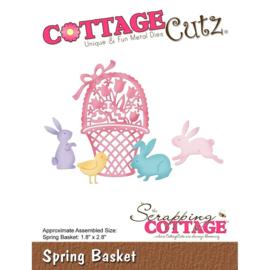 """CC420 CottageCutz Die Spring Basket 1.8""""X2.8"""""""