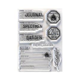 EC-CS212 Elizabeth Craft Clear Stamps In My Garden