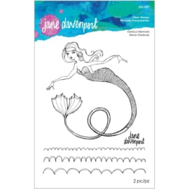 JDS057 Jane Davenport Stamp Camp Collection Clear Stamps Set Glorious Mermaid