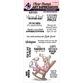 658959 Art Impressions Laugh Lines Clear Stamp Rock On