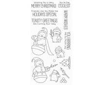 BB-85 My Favorite Things Toasty Greetings Clear Stamps