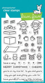 "LF1767 Lawn Fawn Clear Stamps Holiday Helpers 4""X6"""
