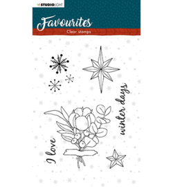 STAMPSL505 Studio Light Clear Stamp Winter's Favourites nr.505
