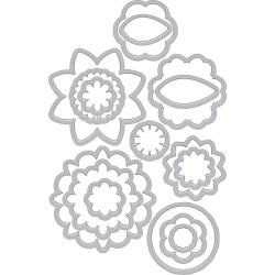 252045 Hero Arts Frame Cut Dies Blossoms For Coloring