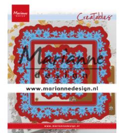 LR0633 Marianne Design creatables Snowflakes square