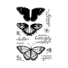 "565897 Hero Arts Color Layering Clear Stamps Monarch 4""X6"""