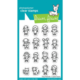 """LF2506 Lawn Fawn Clear Stamps Tiny Friends  3""""X4"""""""