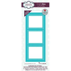 CED1256 Creative Expressions Craft die slimline Decoratieve rechthoek opening trio