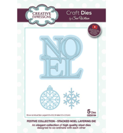 CED3194 Creative Expressions Stacked Noel Layering