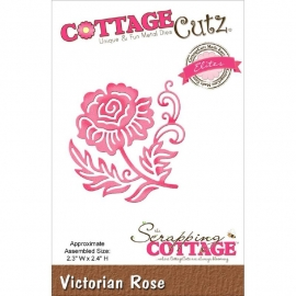 "423188 CottageCutz Elites Die Victorian Rose, 2.3""X2.4"""