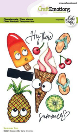 130501/1515 CraftEmotions clearstamps A6 Summer Fun Carla Creaties