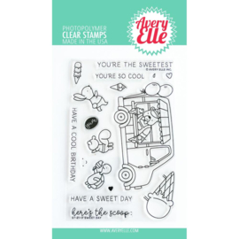 """656897 Avery Elle Clear Stamp Set Sweet Day 4""""X6"""""""