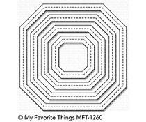 MFT-1260 My Favorite Things Die Single Stitch Line Tag-Corner Square Frames