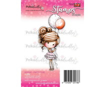 PD7808 Polkadoodles Winnie Partytime Clear Stamp