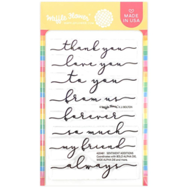 "646532 Waffle Flower Crafts Clear Stamps Sentiment Additions 4""X6"""