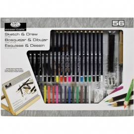 513902 Flat Easel Art Set Large Sketch & Drawing Set 56pc
